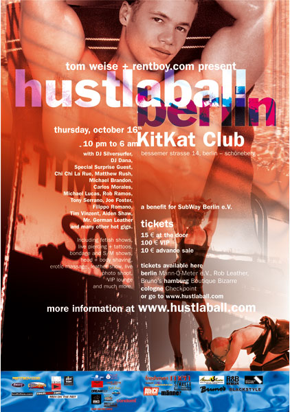HustlaBall Berlin 2003 - Poster