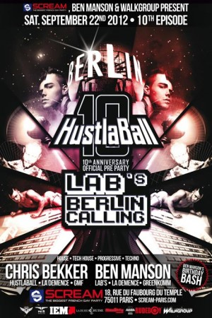 Hustlaball Berlin Pre-Party Paris 2012 Poster