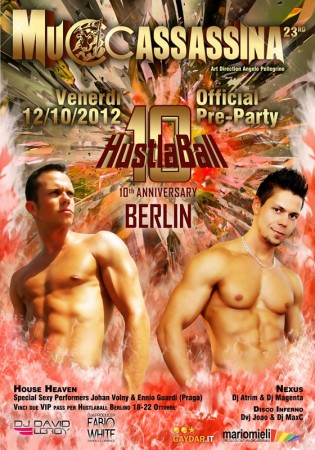 Official HustlaBall Berlin Pre-Party in Rome Poster