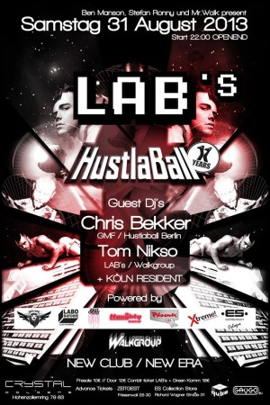 LAB's presents: HustlaBall Berlin Pre-Party in Cologne